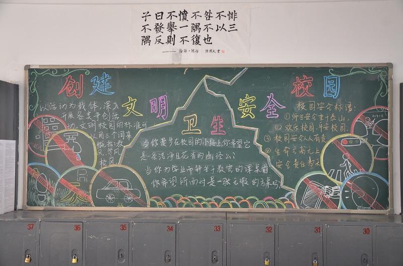 创建文明卫生平安校园——十月板报墙报选登(1)